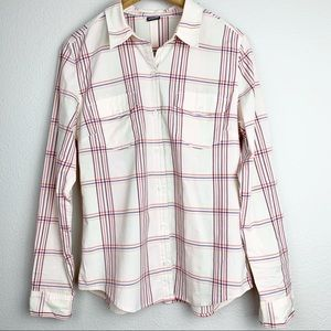 Patagonia Plaid Button Down Long Sleeve Blouse